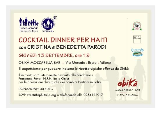 Cocktail dinner per i bambini di haiti con cristina e for Mozzarella in carrozza parodi