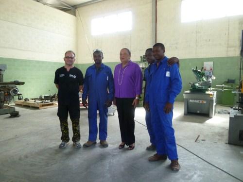 La First Lady Sophia Martelly in visita a Francisville